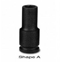 "1/2""Dr Deep Length Impact Socket 6-point 8mm-36mm"