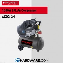 Worcraft AC0224 Air Compressor 2.0Hp 1500W 2850Rpm 8Bar(116Psi) 206L/Min 24L