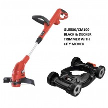 BLACK & DECKER GL5530-B1 Grass Strimmer 550W 30cm Bundle with CM100 City Mower