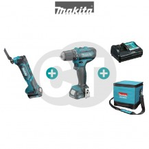 MAKITA CLX206AX2 12V CXT Series Combo Kit (TM30D Cordless Multi Tool + DF331D Cordless Driver Drill+ 2x 1.5Ah Battery + Standard Charger + Makita Bag)
