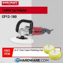 "Worcraft CP12180 Car Polisher 7"" 1200W 3000Rpm"