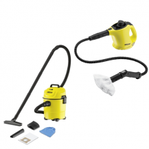 Karcher Combo Karcher SC1PREMIUMFK C/W Floor Kit + Karcher WD1/MV1 Vacuum Cleaner
