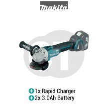 "MAKITA DGA404RFE 4"" (100mm) 18V Cordless Brushless Angle Grinder (LXT SERIES)"