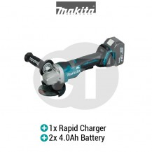 "MAKITA DGA408RME 100MM (4"") CORDLESS ANGLE GRINDER (LXT SERIES)"