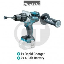 "MAKITA DHP481RME 13MM (1/2"") 4.0 Amp Hour Cordless Hammer Driver Drill"