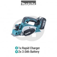 "MAKITA DKP180RFE 82MM (3-1/4"") CORDLESS PLANER (LXT SERIES)"