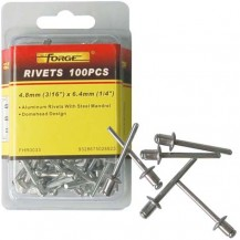 "Forge Aluminium Rivets 3.2mm (1/8"")*3.2mm (1/8"") PK200"