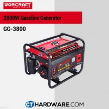 Worcraft GG3800 Gasoline Generator 2800W 3600Rpm 15L Oil 0.6L