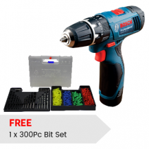 BOSCH GSB120LI  CORDLESS IMPACT POWER DRILL PROFESSIONAL 12V + 300pcs Accessories