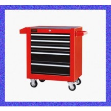 HONG YU RUIYE ROLLER CABINET 5 DRAWERS RED & BLACK JS37