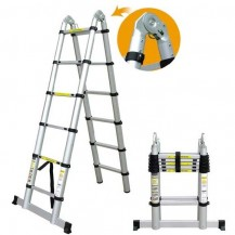 CIVIC Aluminium Telescopic Double Sided Ladder 15ft