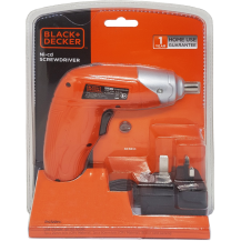 BLACK & DECKER KC3610 3.6V NiCd Screwdriver + 10 Bit Sets