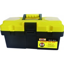 "REWIN WJX8014 PLASTIC TOOL BOX 14""  ( 74 X 36.5 X 37.5 CM )  YELLOW BLACK"